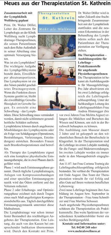 Bad Kleinkirchheimer Nachrichten August 2011