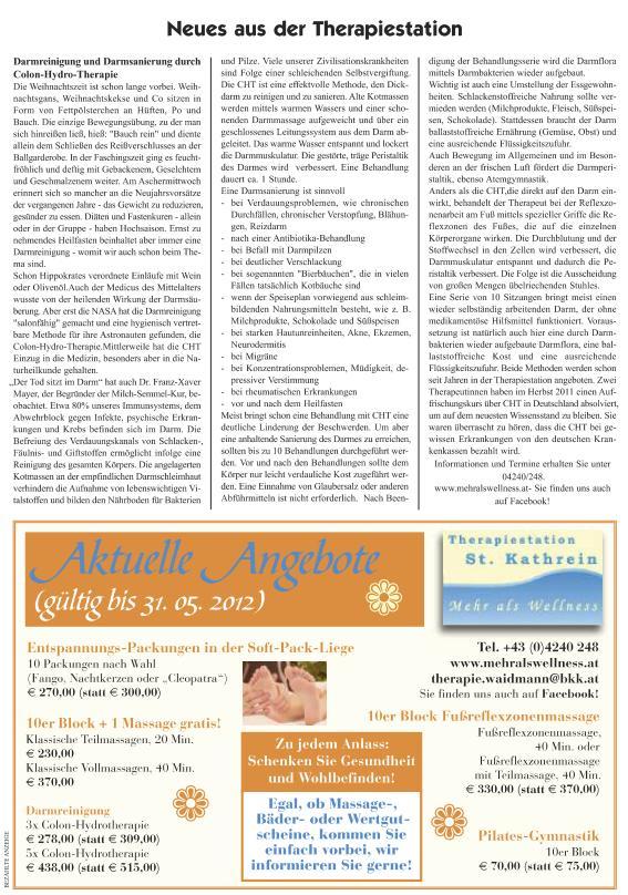 Bad Kleinkirchheimer Nachrichten Feber 2012