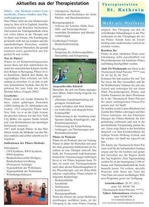 Bad Kleinkirchheimer Nachrichten Mai 2012